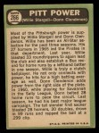 1967 Topps #266  Pitt Power  -  Willie Stargell / Donn Clendenon Back Thumbnail