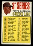 1967 Topps #191 ERR Checklist 3  -  Willie Mays Front Thumbnail