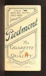 1909 T206 #323 CAP John McGraw  Back Thumbnail