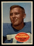 1960 Topps #45   Darris McCord Front Thumbnail