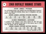 1969 Topps #49 ERR Royals Rookie Stars  -  Steve Jones / Eliseo Rodriquez Back Thumbnail