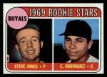 1969 Topps #49 ERR Royals Rookie Stars  -  Steve Jones / Eliseo Rodriquez Front Thumbnail