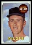 1969 Topps #413   Roland Sheldon Front Thumbnail