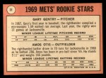 1969 Topps #31   -  Gary Gentry / Amos Otis Mets Rookies Back Thumbnail