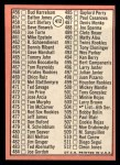 1969 Topps #412  Checklist 5  -  Mickey Mantle Back Thumbnail