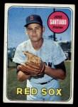 1969 Topps #21   Jose Santiago Front Thumbnail
