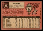 1969 Topps #197   Dick Selma Back Thumbnail