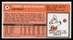 1970 Topps #96   Terry Dischinger  Back Thumbnail