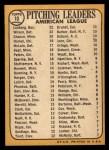 1968 Topps #10 *ERR*  -  Dean Chance / Jim Lonborg / Earl Wilson AL Pitching Leaders Back Thumbnail