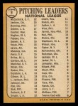 1968 Topps #9  1967 NL Pitching Leaders  -  Jim Bunning / Ferguson Jenkins / Mike McCormick / Claude Osteen Back Thumbnail