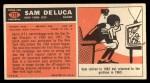 1965 Topps #113   Sam DeLuca Back Thumbnail