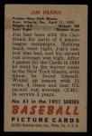 1951 Bowman #61   Jim Hearn Back Thumbnail