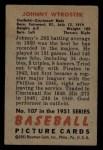 1951 Bowman #107  John Wyrostek  Back Thumbnail
