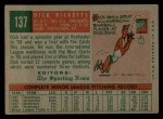 1959 Topps #137  Dick Ricketts  Back Thumbnail