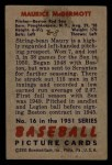 1951 Bowman #16  Mickey McDermott  Back Thumbnail