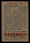 1951 Bowman #40   Gus Bell Back Thumbnail