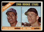 1966 Topps #139  Cubs Rookies  -  Bryon Brown / Don Young Front Thumbnail