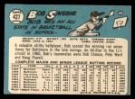 1965 Topps #427   Bob Saverine Back Thumbnail