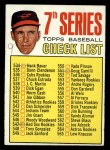 1967 Topps #531   -  Brooks Robinson Checklist 7 Front Thumbnail