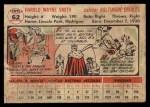 1956 Topps #62   Hal W. Smith Back Thumbnail