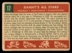 1959 Topps #17  Danny's All-Stars  -  Frank Thomas / Ted Kluszewski / Danny Murtaugh Back Thumbnail
