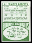1968 Topps #56  Walter Roberts  Back Thumbnail
