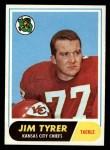 1968 Topps #15  Jim Tyrer  Front Thumbnail