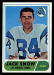 1968 Topps #184   Jack Snow Front Thumbnail