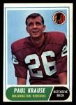 1968 Topps #166   Paul Krause Front Thumbnail