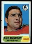 1968 Topps #124   Nick Buoniconti Front Thumbnail