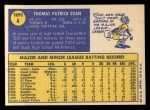 1970 Topps #4   Tom Egan Back Thumbnail