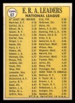 1970 Topps #67  1969 NL ERA Leaders  -  Steve Carlton / Bob Gibson / Juan Marichal Back Thumbnail