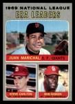1970 Topps #67  1969 NL ERA Leaders  -  Steve Carlton / Bob Gibson / Juan Marichal Front Thumbnail