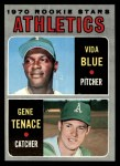 1970 Topps #21  Athletics Rookie Stars  -  Gene Tenace / Vida Blue Front Thumbnail