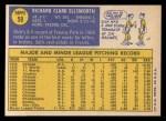 1970 Topps #59  Dick Ellsworth  Back Thumbnail