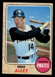 1968 Topps #53  Gene Alley  Front Thumbnail