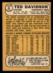 1968 Topps #48  Ted Davidson  Back Thumbnail