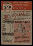1953 Topps #249   Ed O'Brien Back Thumbnail