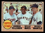 1968 Topps #490  Super Stars  -  Harmon Killebrew / Willie Mays / Mickey Mantle Front Thumbnail