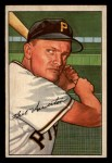 1952 #119  Bill Howerton  Front Thumbnail