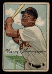 1952 Bowman #249   Hank Thompson Front Thumbnail
