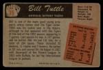 1955 Bowman #35  Bill Tuttle  Back Thumbnail