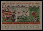 1956 Topps #174  Glen Gorbous  Back Thumbnail