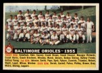 1956 Topps #100 D55  Orioles Team Front Thumbnail