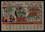 1956 Topps #187   Early Wynn Back Thumbnail