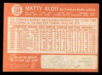 1964 Topps #204  Matty Alou  Back Thumbnail