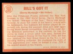1964 Topps #268  Bill's Got It  -  Bill Virdon / Danny Murtaugh Back Thumbnail