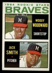 1964 Topps #378   Braves Rookie Stars  -  Woody Woodward / Jack Smith Front Thumbnail