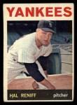 1964 Topps #36   Hal Reniff Front Thumbnail