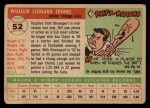 1955 Topps #52   Bill Tremel Back Thumbnail